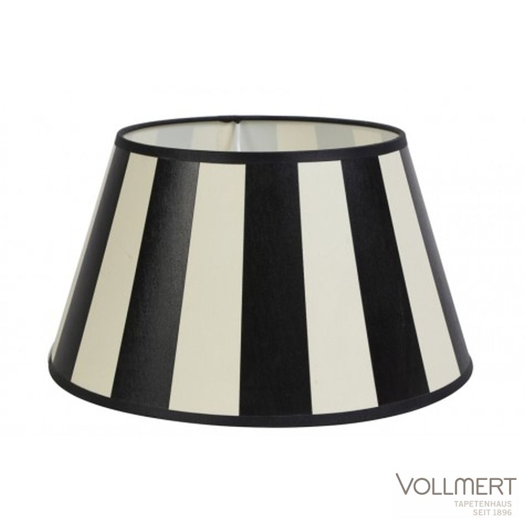 Lampenschirm drum 35-25-19 cm KING schwarz