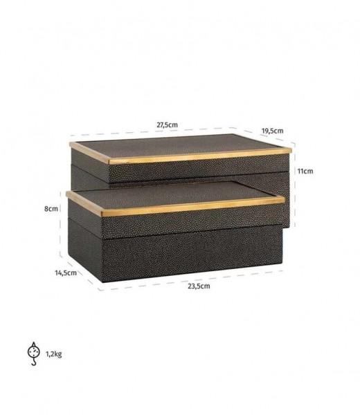 Schmuckkästchen Betoul 2er Set, kleines und großes Kästchen