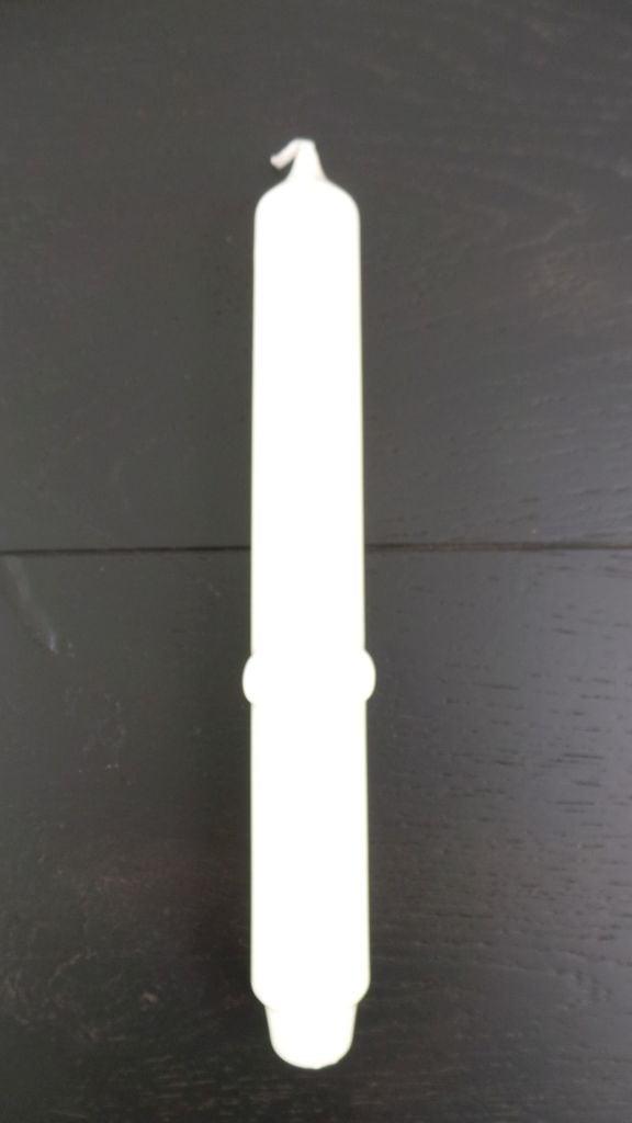 Stabkerzen Ø3 H25 cm, m. Lilie,009 Elfenbein