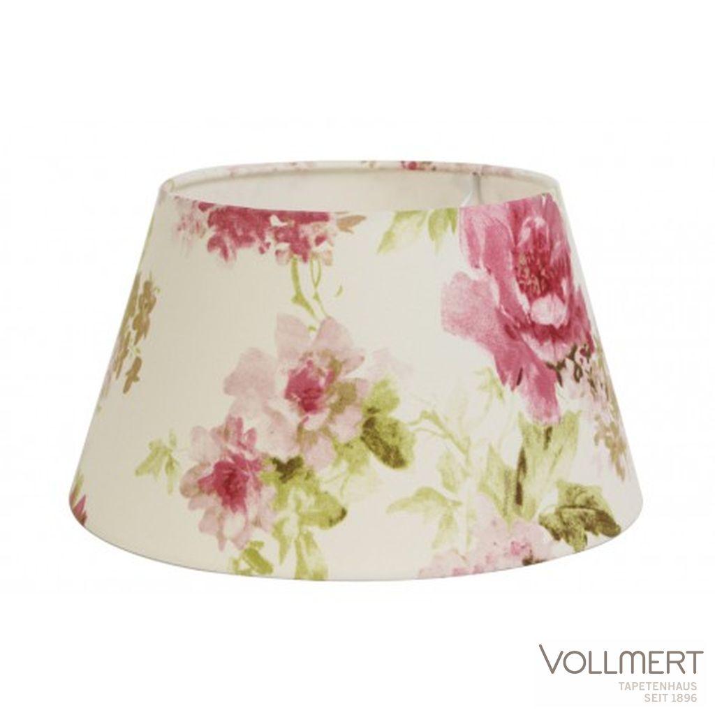 Lampenschirm drum 35-25-19 cm ROSE auf weiss