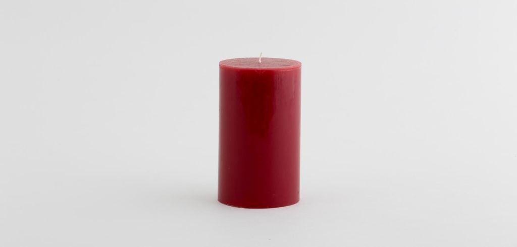 KERZE MIRRE CHRISTMAS RED 9X15