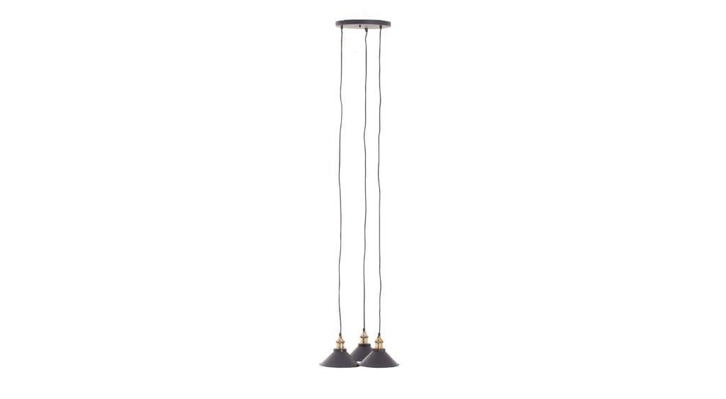 LEUCHTER CIRINO SCHWARZ 3 LAMPE