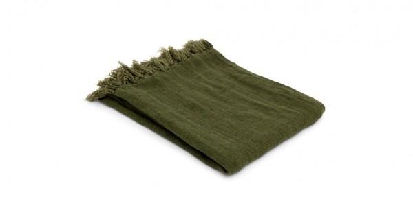 Plaid Decke Valencia Military Green