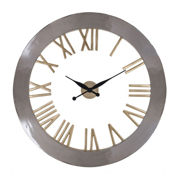 Uhr Derex rund silber/gold