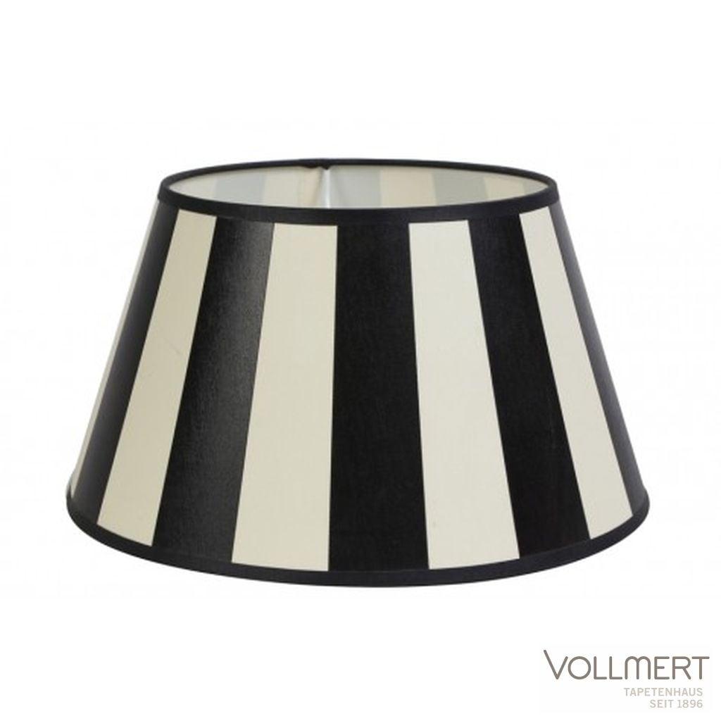 Lampenschirm drum 30-19-17 cm KING schwarz